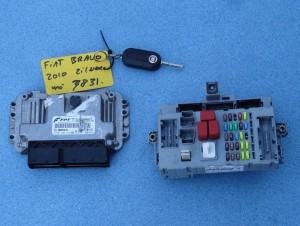 komplet, zestaw: komputer, kluczyk, centralka BSI Fiat Bravo II 1,4 T-JET nr Bosch: 0261S05872