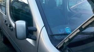 drzwi Fiat Doblo prawe przesuwne srebrny metalik