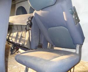 Fotel tylny dzielony, kanapa, komplet z plastikami i pasami bezpieczeńswa Fiat Doblo