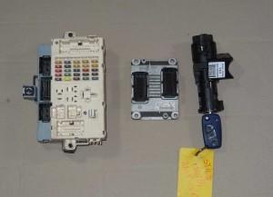 komputer, centralka, stacyjka, BSI, komplet Fiat Stilo 1,4 16V 0261208204 55195273