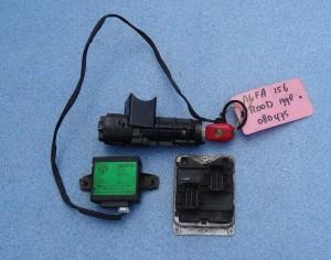 komplet, zestaw: komputer, stacyjka, kluczyk, centralka immobiliser Alfa Romeo 156 1,8 TS nr Bosch: 0261204947