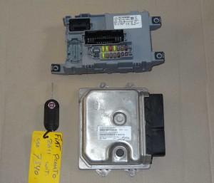 komplet, zestaw: komputer, kluczyk, centralka BSI Fiat Grande Punto EVO 1,3 Multijet nr: 51880758