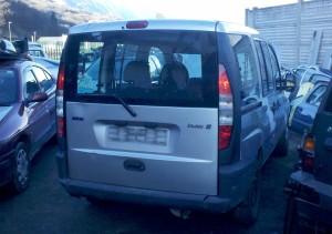 szyba boczna prawa z ramkš do drzwi przesuwnych Fiat Doblo